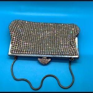 Hot Silver Diamond Crystal Vintage Clutch